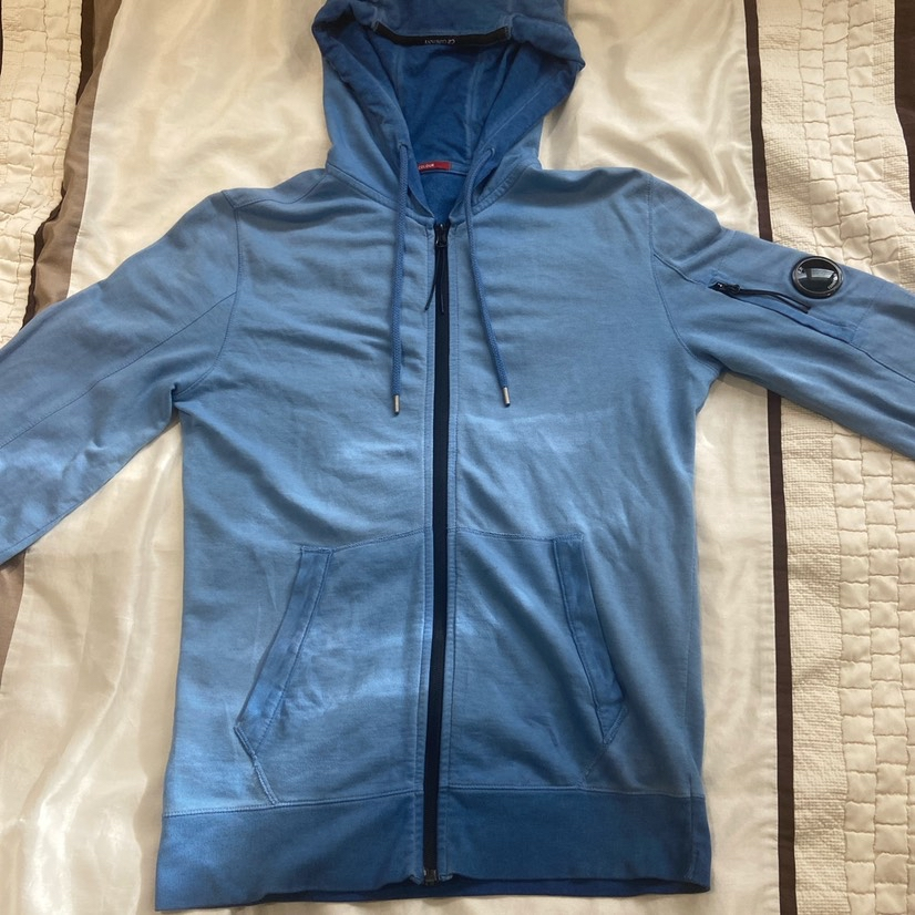 Cp company light blue re-coloured hoodieOther0
