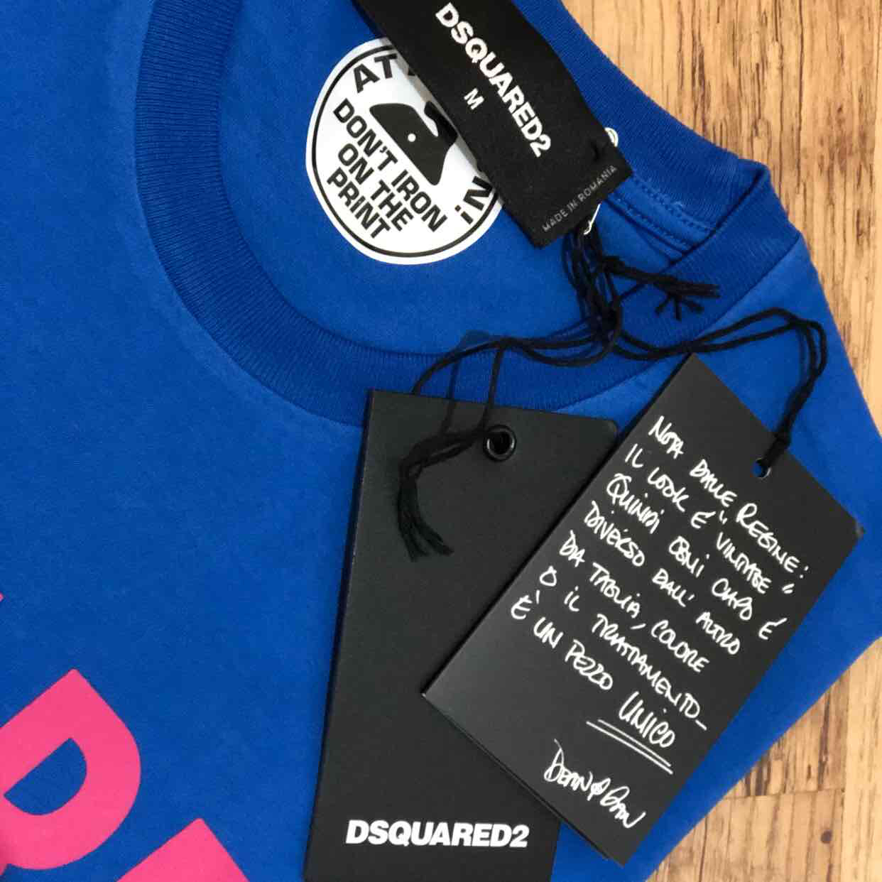 Dsquared2 men's arch logo t-shirt in blue and pink Retail price £160 my price £85. Sizes available M,L,XLDsquared22